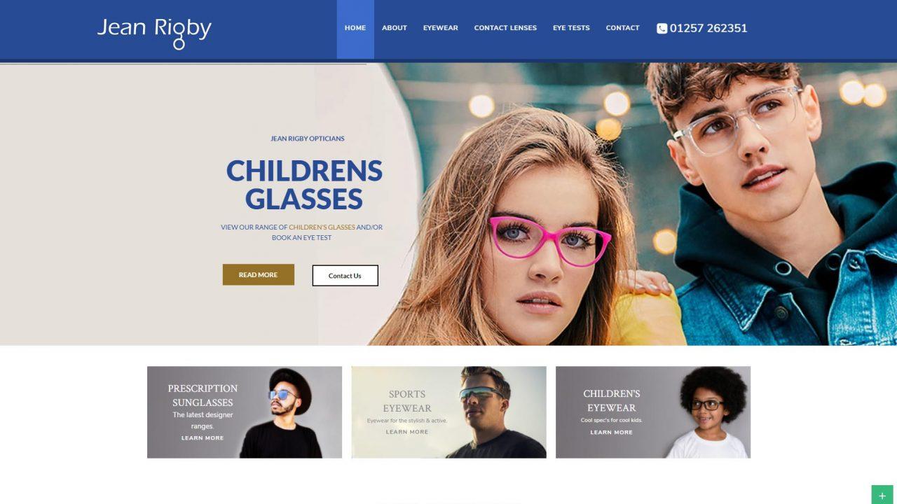 jean-rigby-opticians-wordpress-website-development
