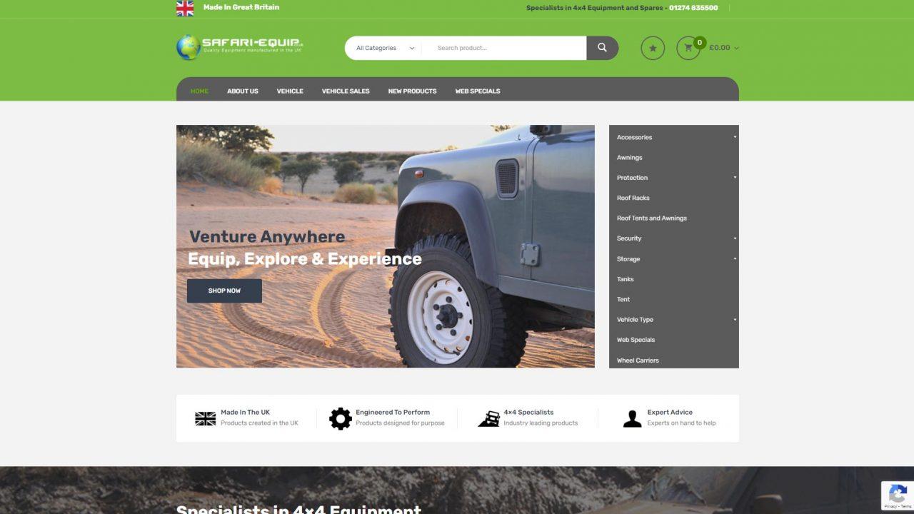 safari-equip-eccommerce-website-development